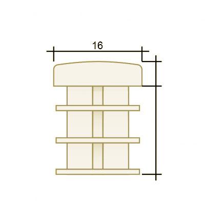 Заглушка круглая д. 16