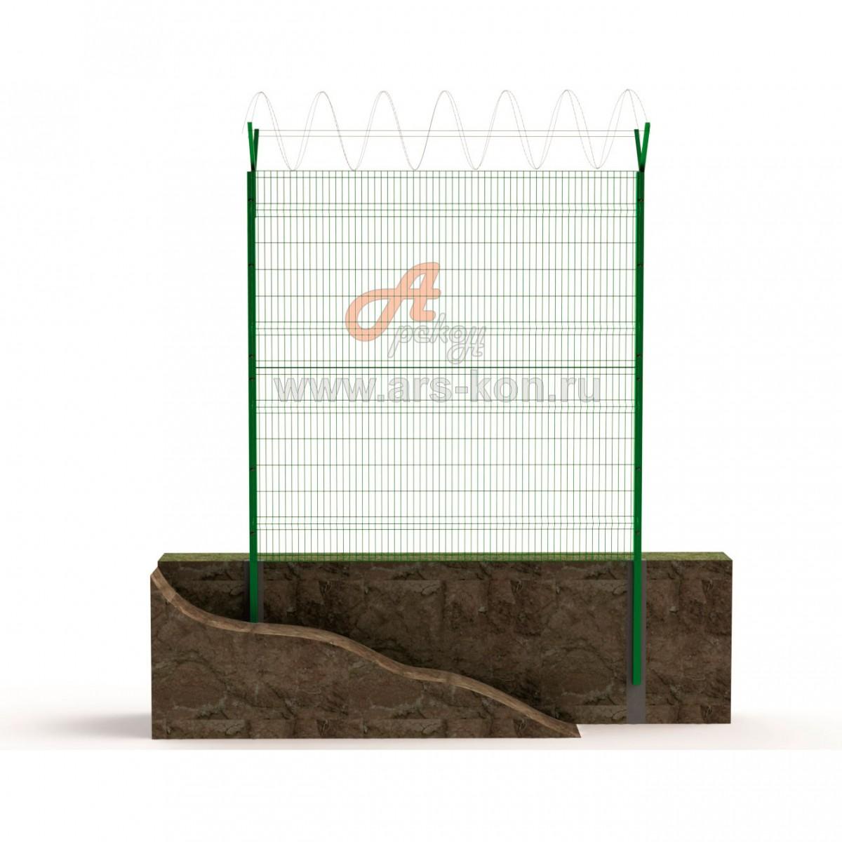 Секция заграждения ТИП 4 с панелью Арскон-6-1500-03