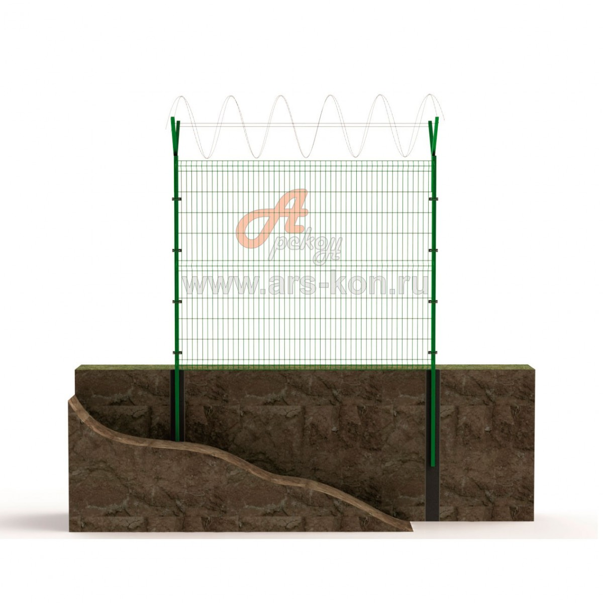 Секция заграждения ТИП 3 с панелью Арскон-6-2000-01