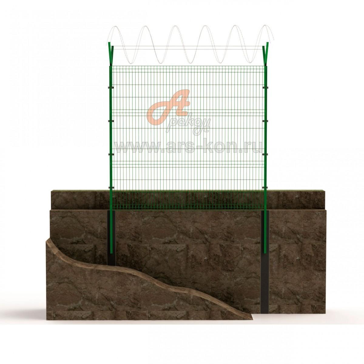 Секция заграждения ТИП 2 с панелью Арскон-5-2000-01
