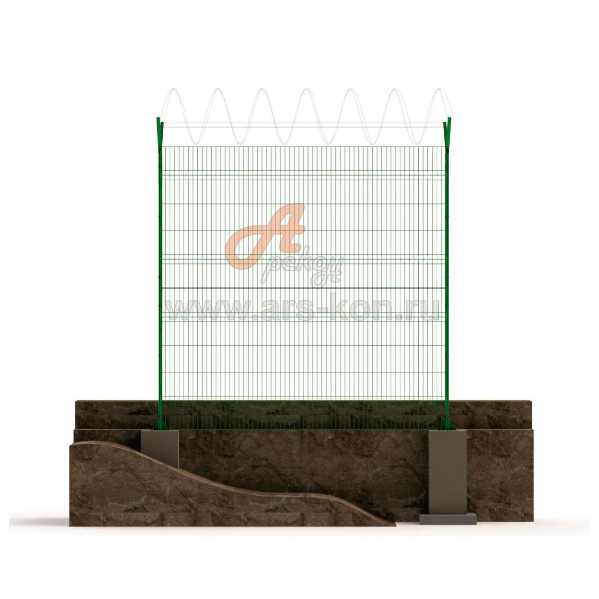 Секция заграждения ТИП 1 с панелью Арскон-6-1500-03