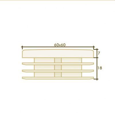 Заглушка квадратная 60×60
