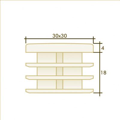 Заглушка квадратная 30×30