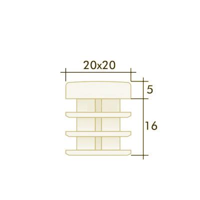 Заглушка квадратная 20×20