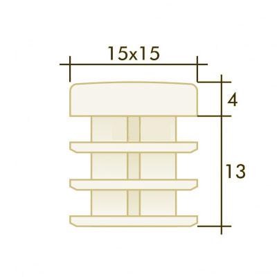 Заглушка квадратная 15×15