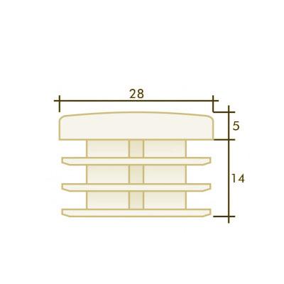 Заглушка круглая д. 28