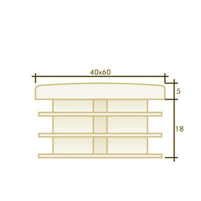 Заглушка прямоугольная 40×60
