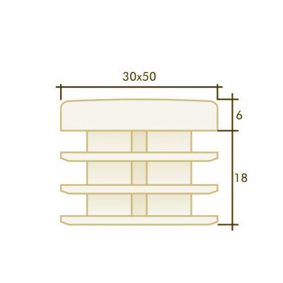 Заглушка прямоугольная 30×50