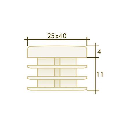 Заглушка прямоугольная 25×40