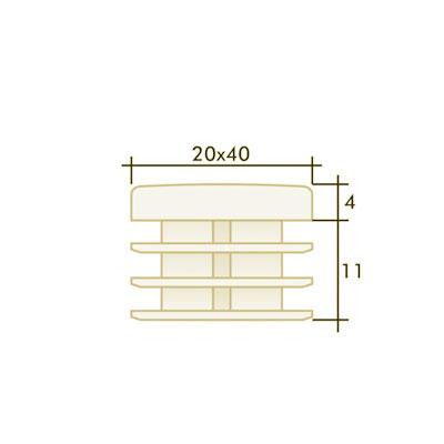 Заглушка прямоугольная 20×40