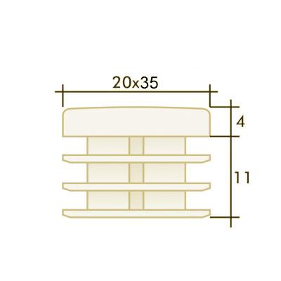 Заглушка прямоугольная 20×35