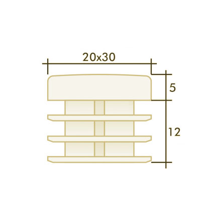 Заглушка прямоугольная 20×30