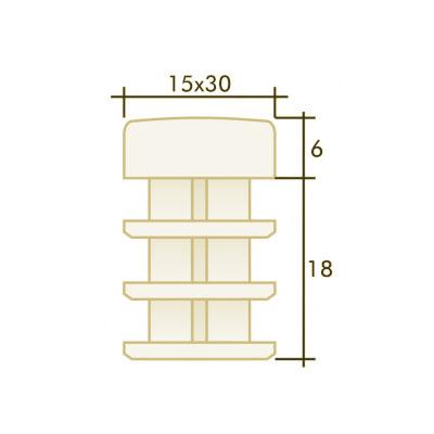 Заглушка прямоугольная 15×30